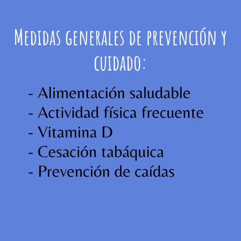 Medidas Generales de Prevención y Cuidado