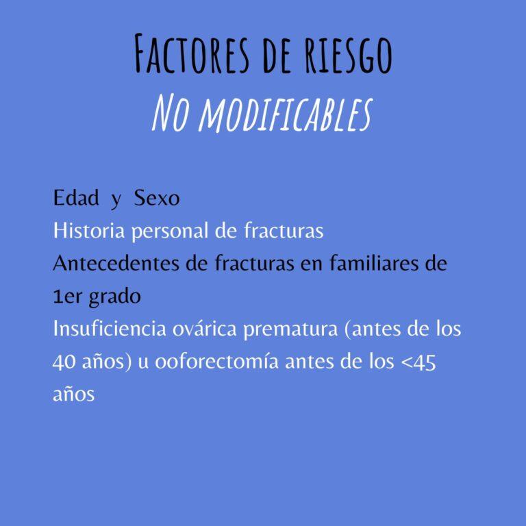 Factores de Riesgo - No modificables
